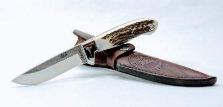 Vadász és túra kés agancs markolattal