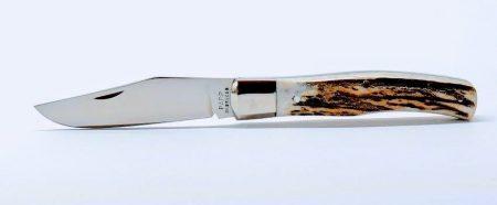 Maskara zsebkés, agancs markolat, rozsdamentes acélk baknival
